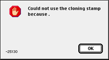 A strange, nonsensical dialogue box seen in Photoshop 4