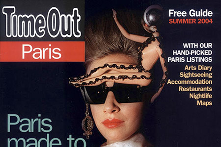 La couverture de Time Out Paris avec une photo de la mode.