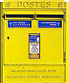 A mailbox next to hôpital Saint-Louis in the 10th arrondissement in Paris
